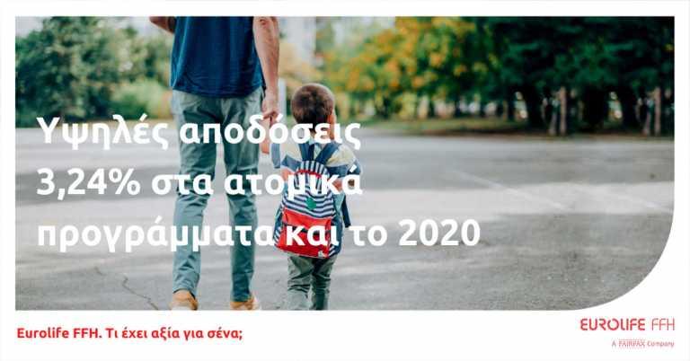 Eurolife FFH: Υψηλές αποδόσεις στα ατομικά προγράμματα το 2020