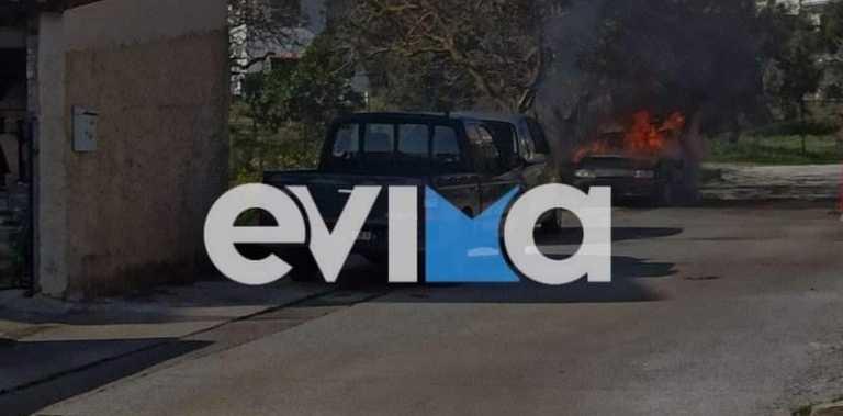 Αλιβέρι: Αυτοκίνητο πήρε φωτιά δίπλα σε σπίτια – Εικόνες που σοκάρουν