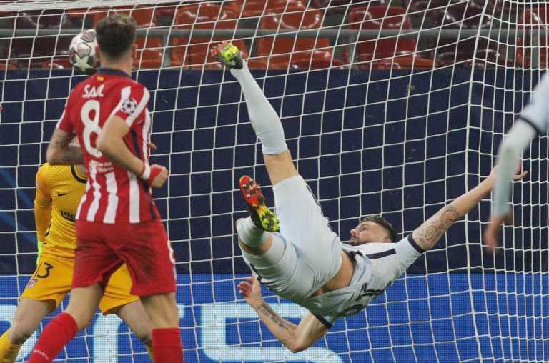 Champions League: Ο «ιπτάμενος» Ζιρού «ξέρανε» την Ατλέτικο Μαδρίτης (video)