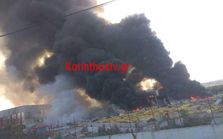 Φωτιά στο Ζευγολατιό Κορινθίας (pics, video)