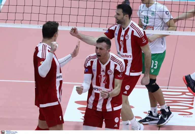 Volley League: Ο Ολυμπιακός «έσπασε» το σερί και «υπέταξε» τον Παναθηναϊκό (video)