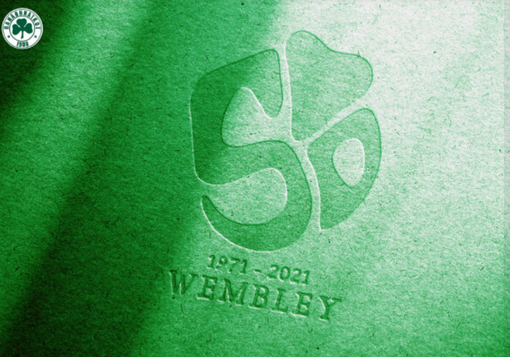 Παναθηναϊκός: Αυτό είναι το εορταστικό λογότυπο για το «Έτος Γουέμπλεϊ» (pic)