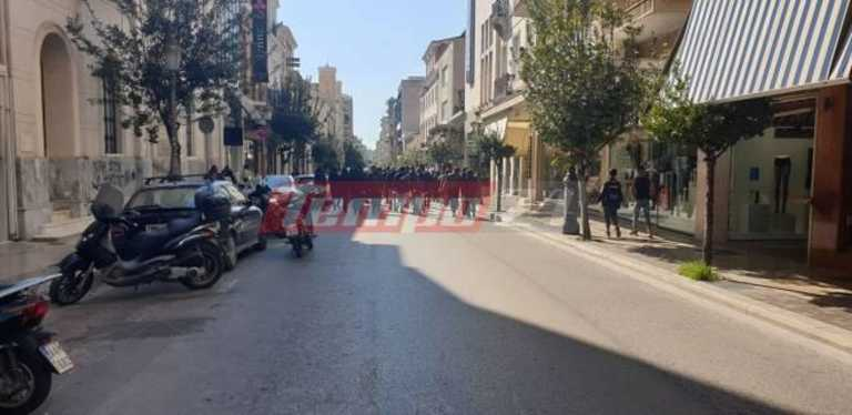 Πάτρα: Νέα πορεία για τον Κουφοντίνα – Ισχυρή παρουσία της αστυνομίας (pics)