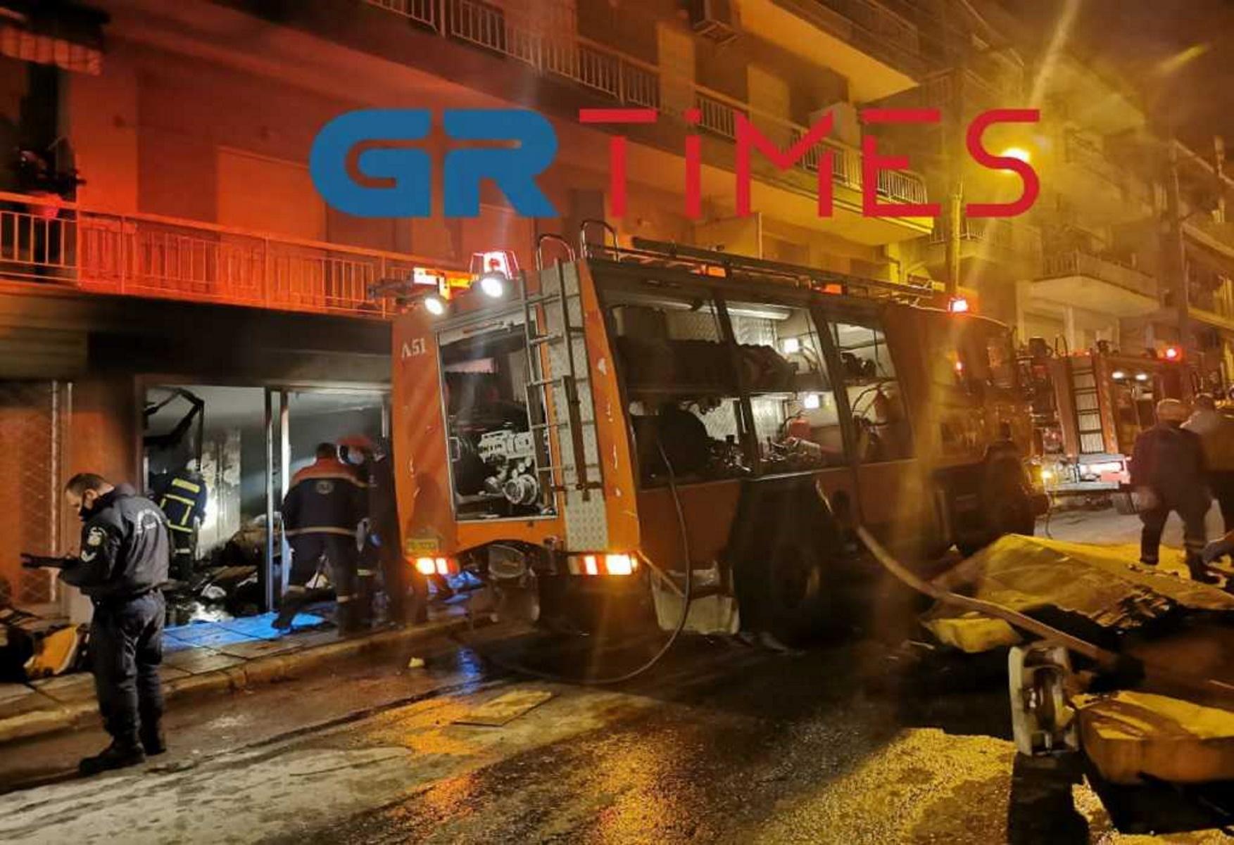 Θεσσαλονίκη: Φωτιά σε κατάστημα – Νεκρός άνδρας (pics, video)