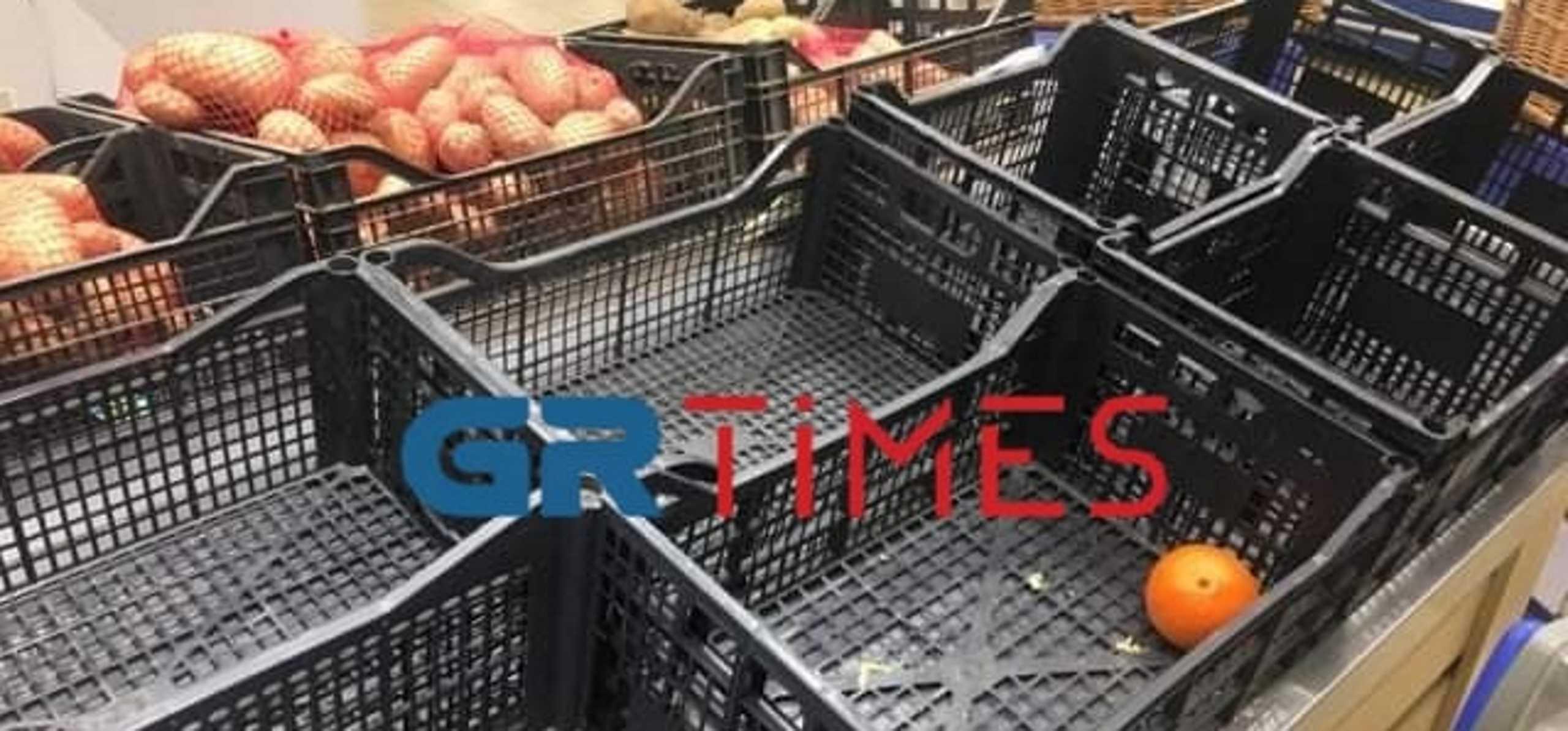 Καιρός – κακοκαιρία Μήδεια: Επιδρομή στα σούπερ μάρκετ της Θεσσαλονίκης – Άδειασαν τα ράφια (pics)