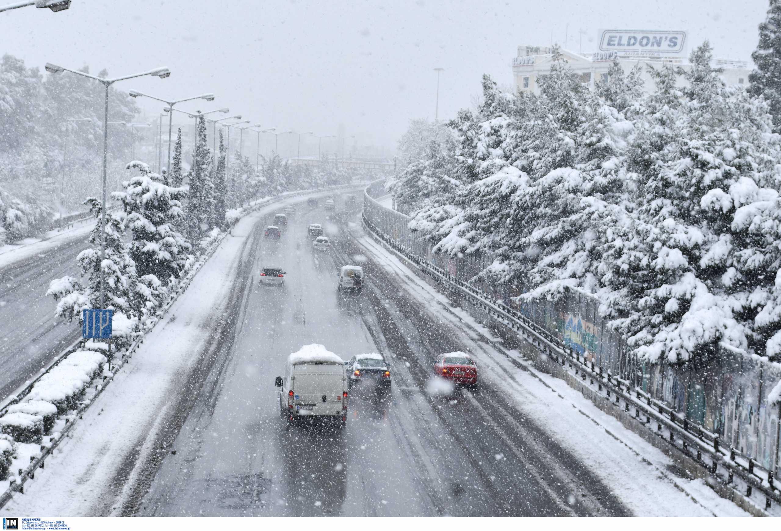 Καιρός – Κακοκαιρία Μήδεια: Άνοιξε η Αθηνών – Λαμίας – Που χρειάζονται αλυσίδες, ποιοι δρόμοι είναι κλειστοί