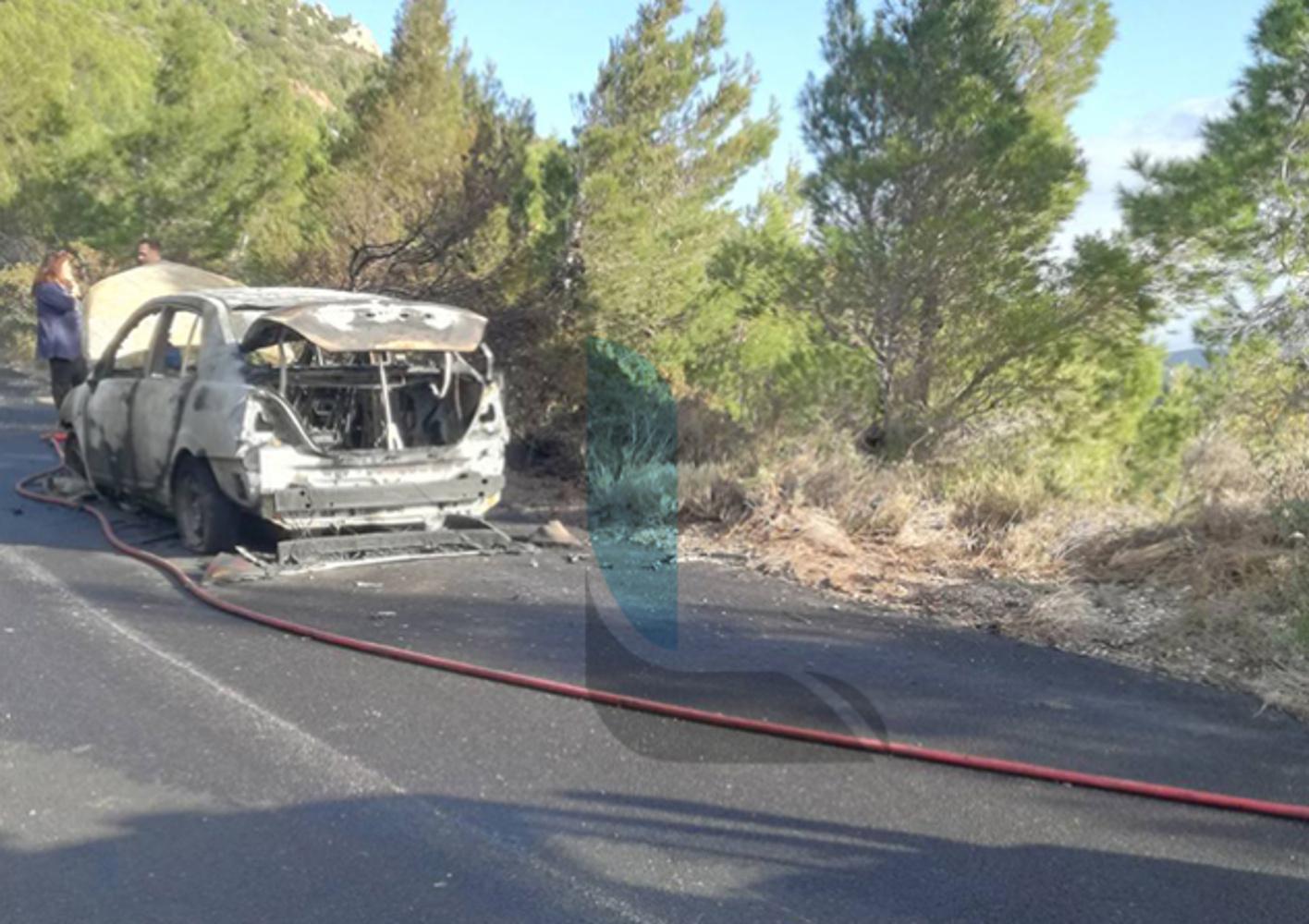 Λουτράκι: Αυτοκίνητο τυλίχθηκε στις φλόγες – Από θαύμα σώθηκαν τέσσερις γυναίκες