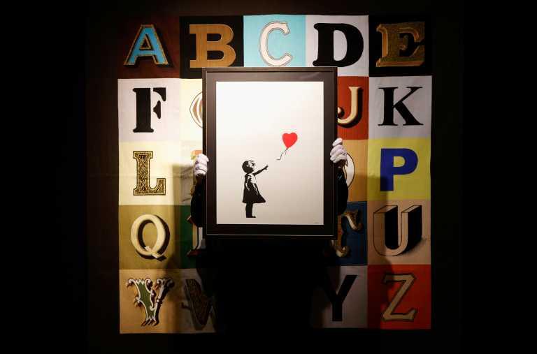 Το «Κορίτσι με το Μπαλόνι» του Banksy και μια φωτογραφία της Κέιτ Μος τα «διαμάντια» νέας δημοπρασίας