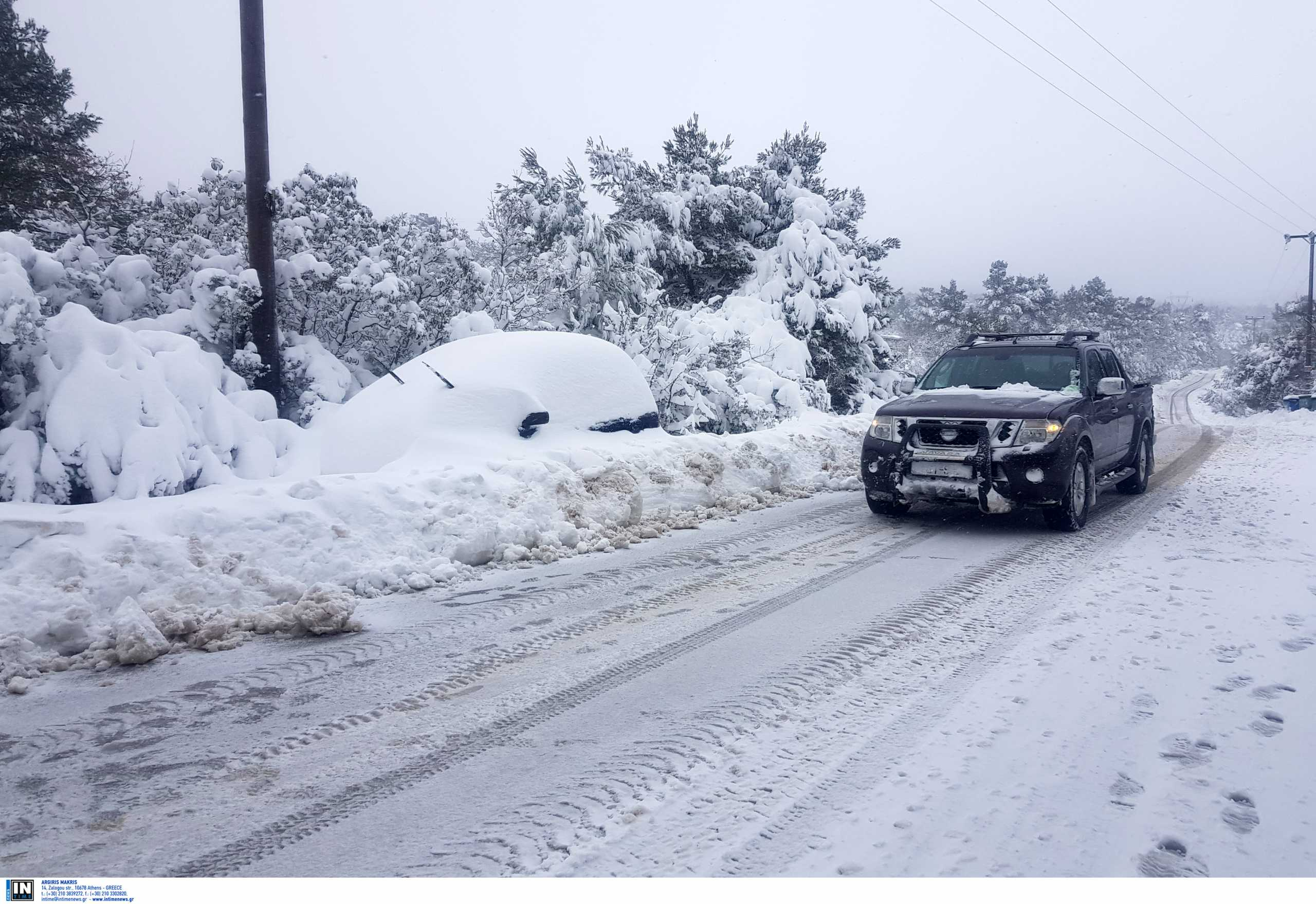 Καιρός – Κακοκαιρία Μήδεια: Ποιοι δρόμοι είναι κλειστοί λόγω χιονιού