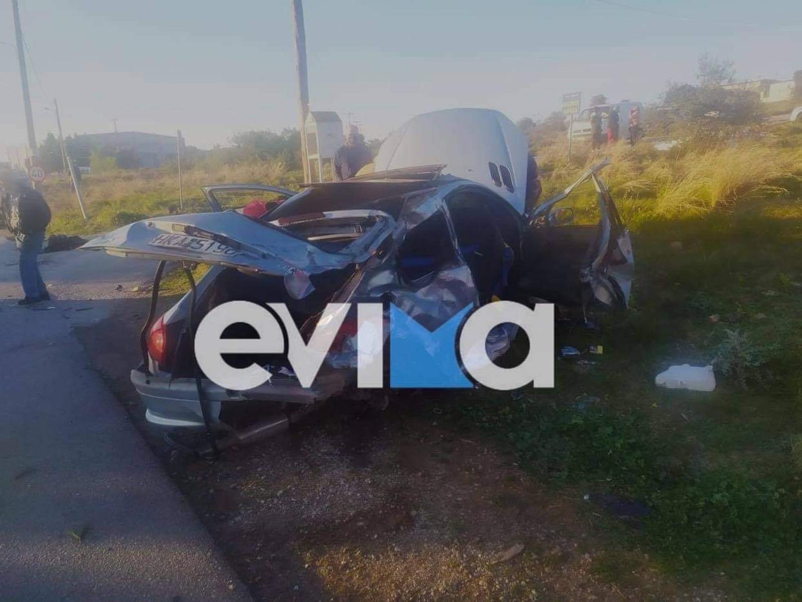 Χαλκίδα: Σοκαριστικό τροχαίο στη Δροσιά – Στο νοσοκομείο δύο τραυματίες (pics)