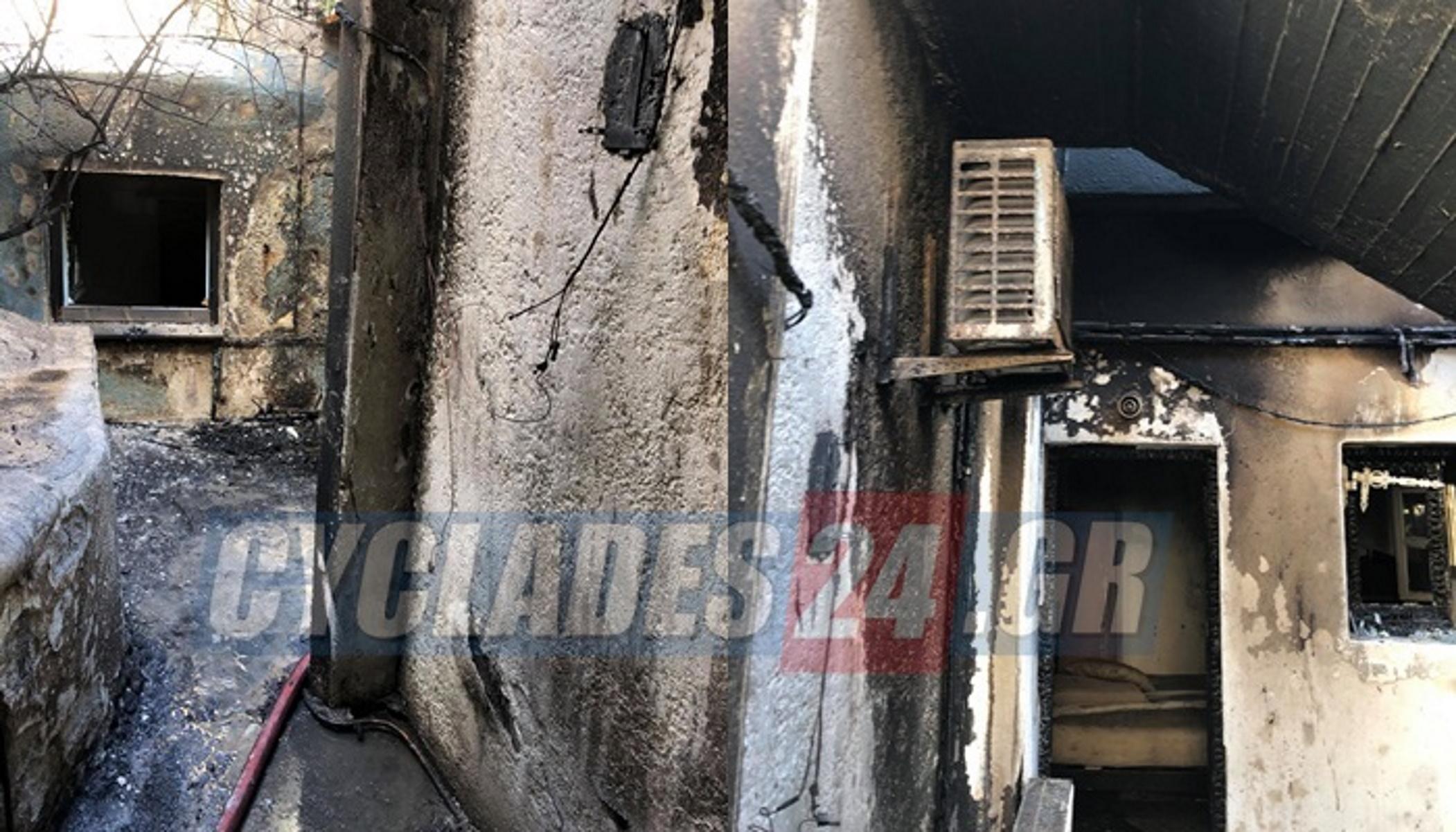 Φωτιά στη Μύκονο: Καταστράφηκε ολοσχερώς συγκρότημα κατοικιών (video)