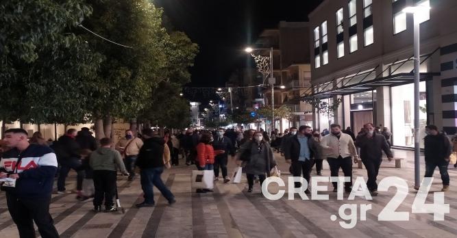 Ηράκλειο: Ξεχύθηκαν στους δρόμους πριν το αυστηρότερο lockdown