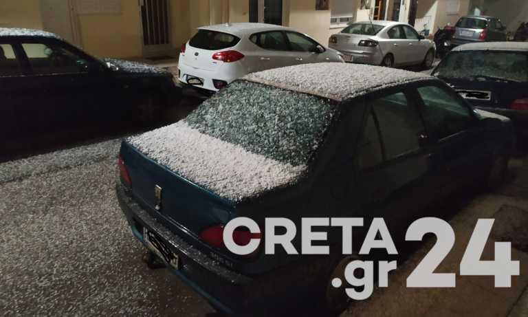 Καιρός – Κρήτη: Η κακοκαιρία Μήδεια έφτασε και στο Ηράκλειο – Ξεκίνησε η χιονόπτωση