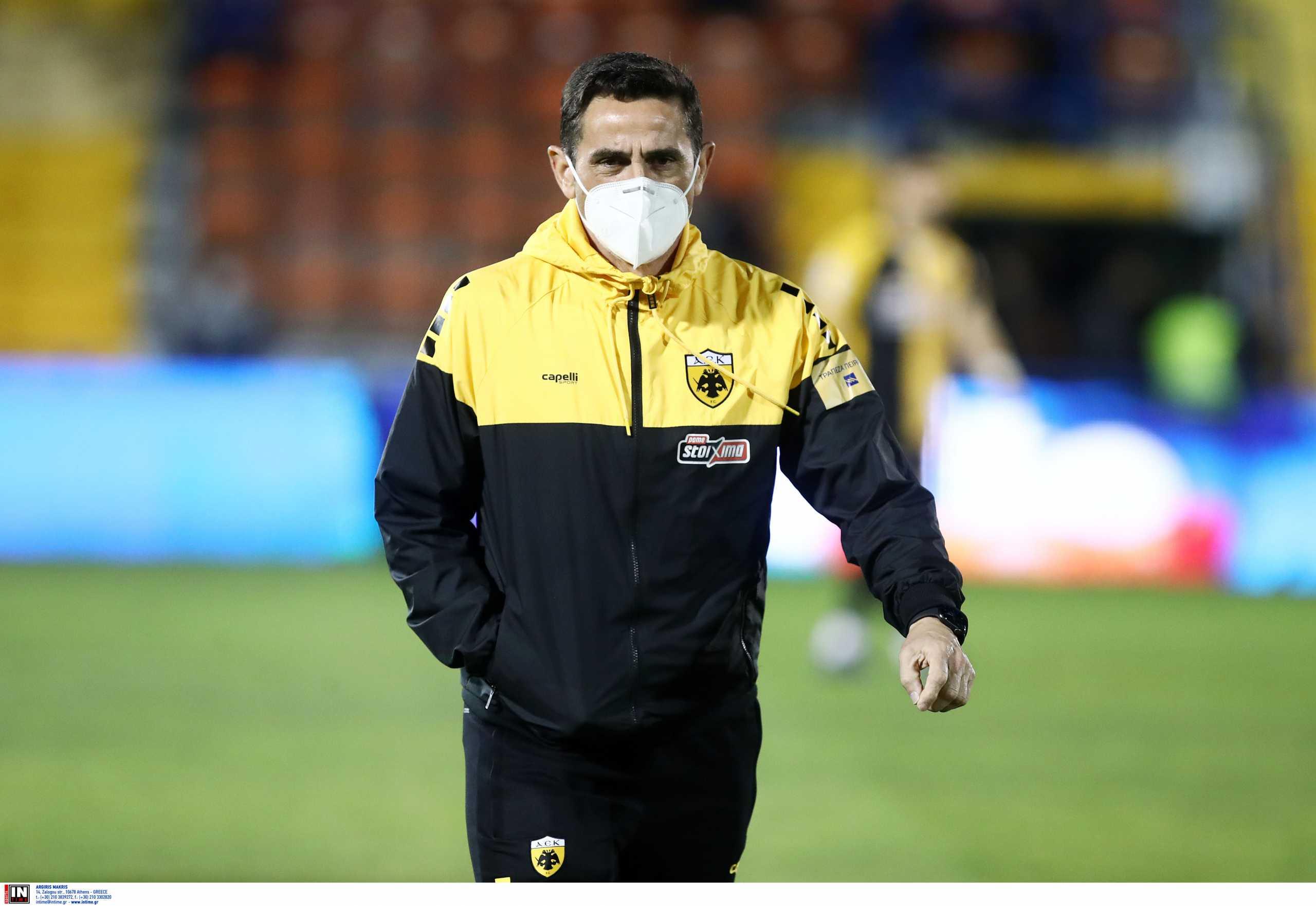 AEK: Έξαλλος ο Χιμένεθ – «Είμαι πολύ θυμωμένος με το πρώτο μέρος» (video)