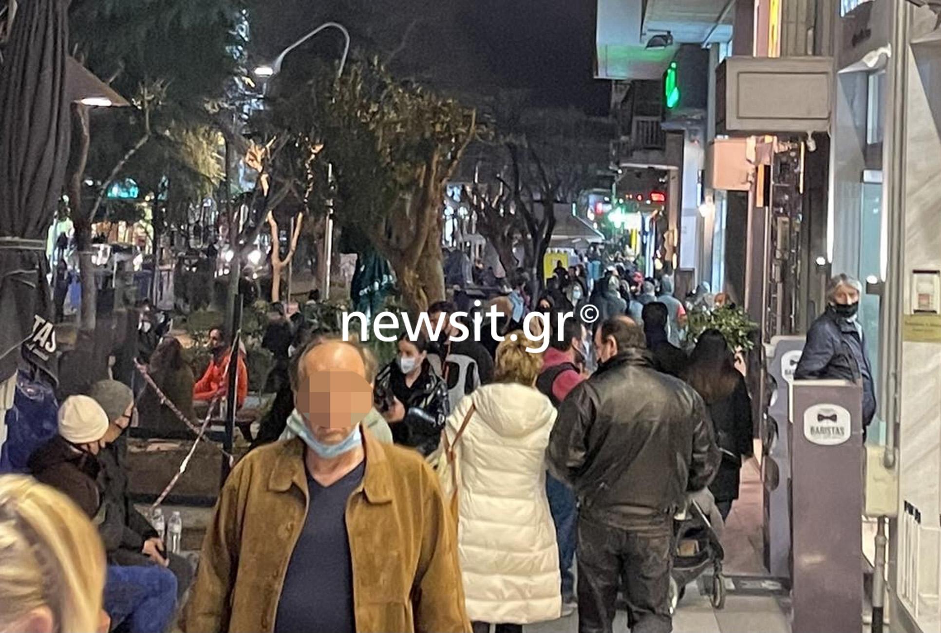 Καλαμαριά: Εικόνες συνωστισμού στον πεζόδρομο (pics)