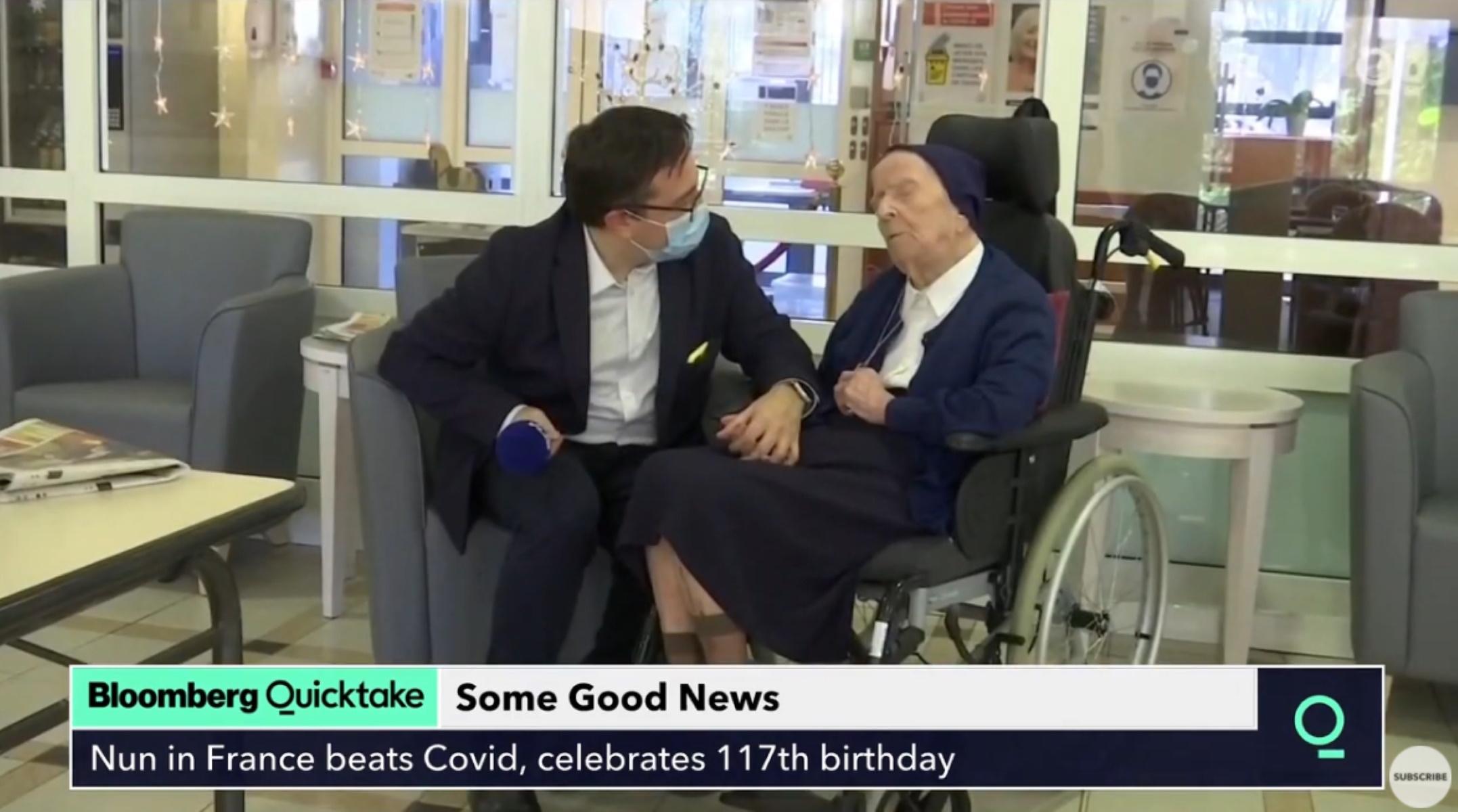 Ο γηραιότερος άνθρωπος της Ευρώπης που νίκησε τον κορονοϊό γιόρτασε τα 117α γενέθλιά της (video)