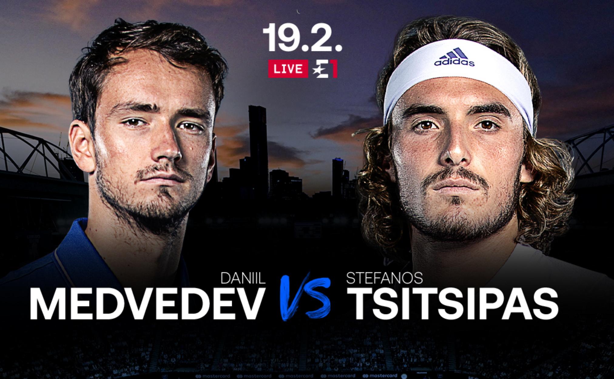 Τσιτσιπάς – Μεντβέντεφ: Ο μεγάλος ημιτελικός του Australian Open στα κανάλια Eurosport από τη Nova