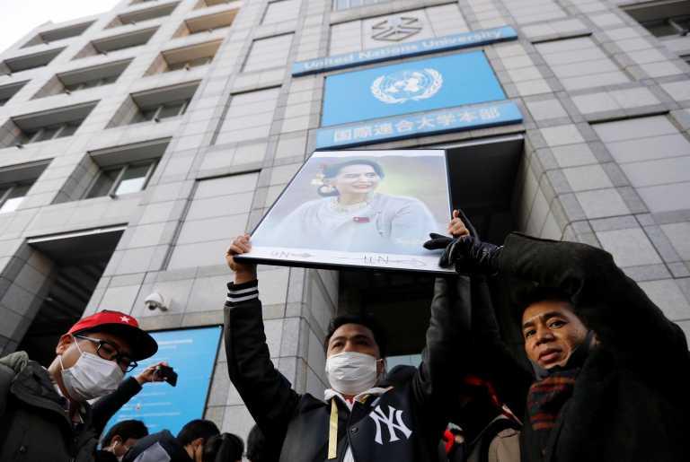 Μιανμάρ: Κάλεσμα της Αούνγκ Σαν Σου Τσι – «Διαδηλώστε, μην δεχτείτε το πραξικόπημα» (pics)