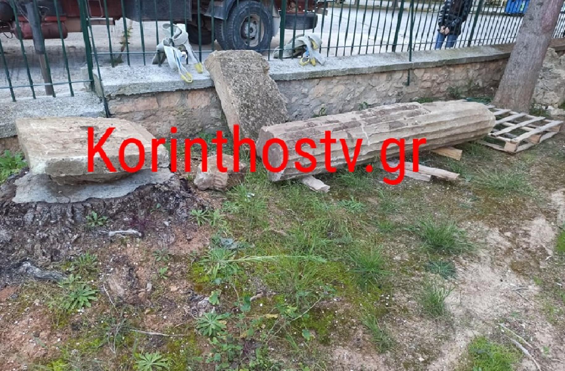 Βρέθηκε αρχαίος κίονας στο Πετρί Νεμέας (pics)