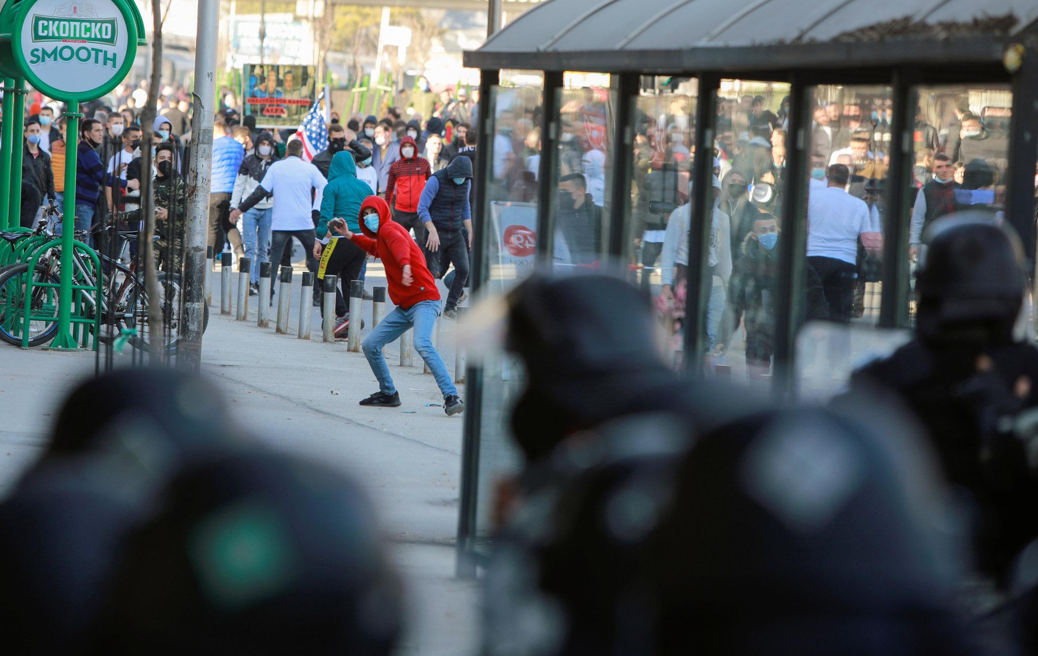 Βόρεια Μακεδονία: Επεισόδια σε διαδήλωση Αλβανών στα Σκόπια