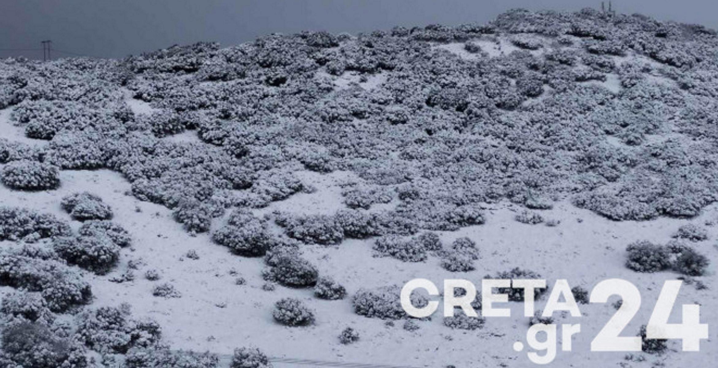 Καιρός – Κρήτη: Σε κατάσταση «κόκκινου συναγερμού» ο μηχανισμός λόγω χιονιά (pics)