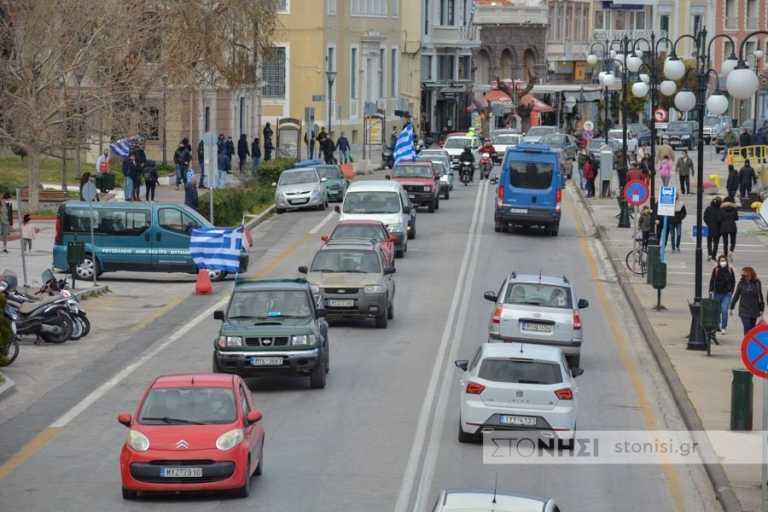 Λέσβος: «Μηχανοκίνητο» μήνυμα στην κυβέρνηση – «Καμία δομή προσφύγων πουθενά στο νησί» (pics)