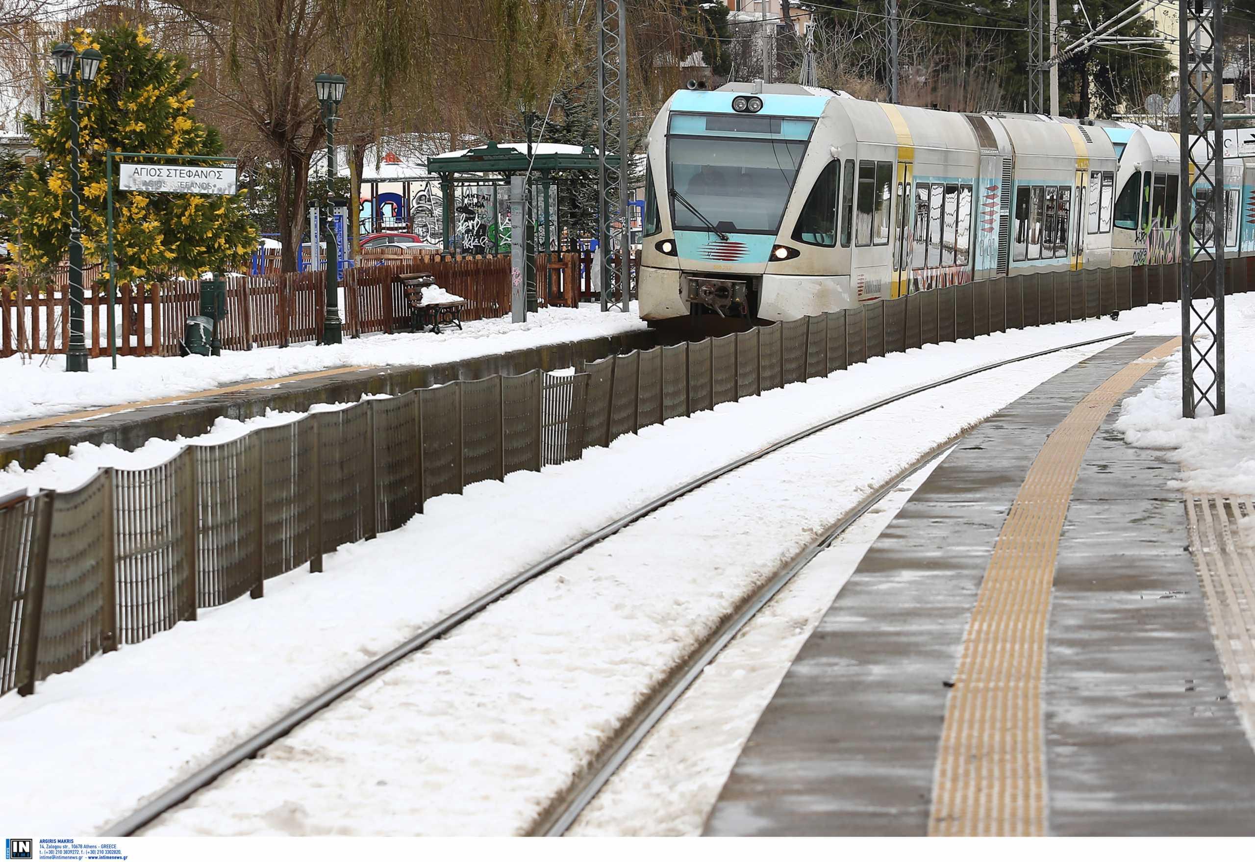 Διακοπές δρομολογίων σε τρένα και προαστιακό λόγω κακοκαιρίας