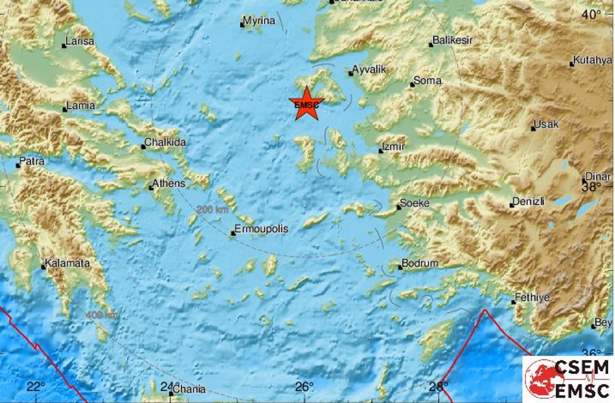 Νέος σεισμός ταρακούνησε τη Λέσβο