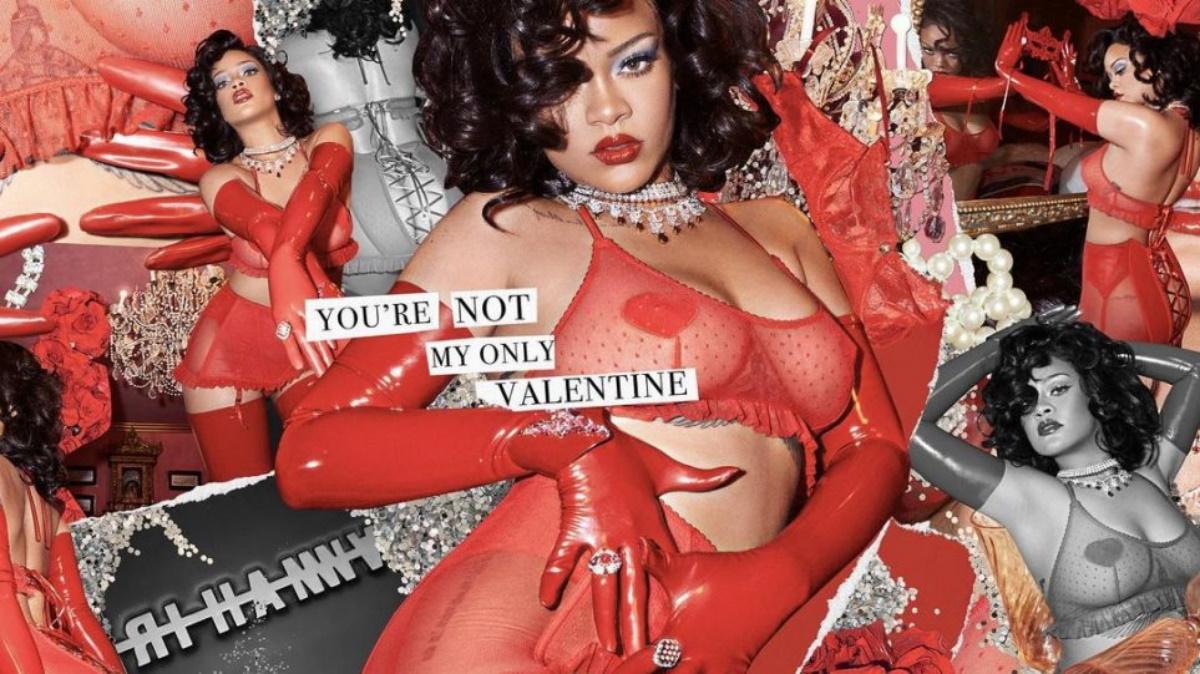 Rihanna: Ποζάρει αισθησιακά με κόκκινα δαντελωτά εσώρουχα για του Αγίου Βαλεντίνου και τρελαίνει κόσμο (pics, vid)