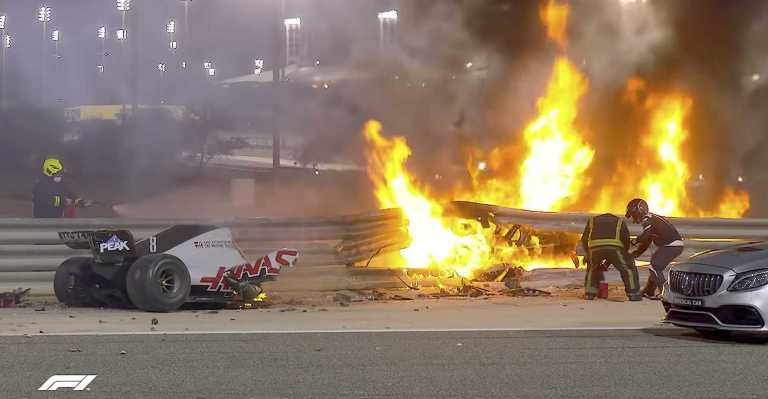 Formula 1: Έτσι σώθηκε ο Romain Grosjean στο τρομακτικό ατύχημα που είχε στο Μπαχρέιν [vid]