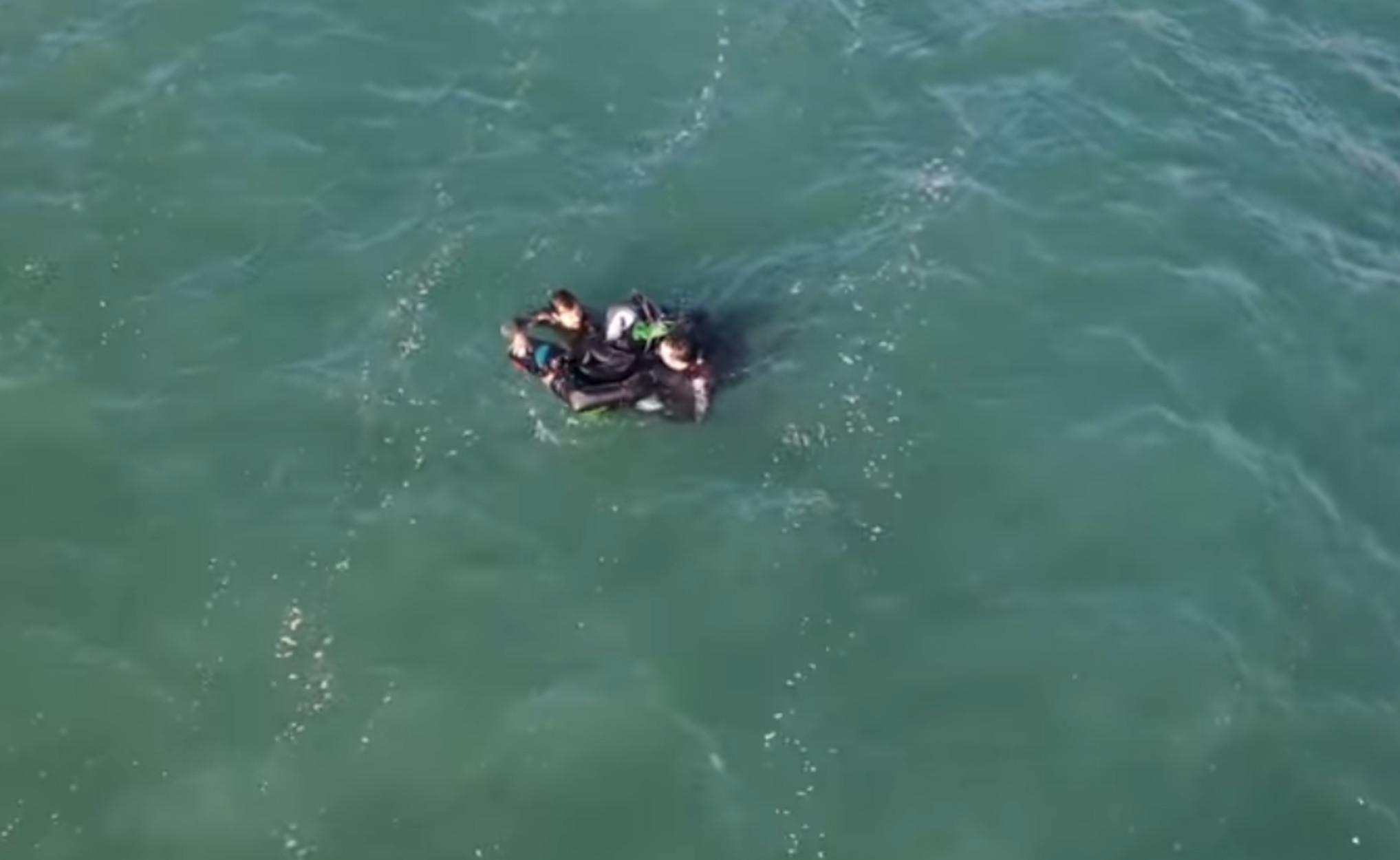 Λούτσα: Βίντεο – ντοκουμέντο με δραματική διάσωση σέρφερ και κολυμβητή (video)
