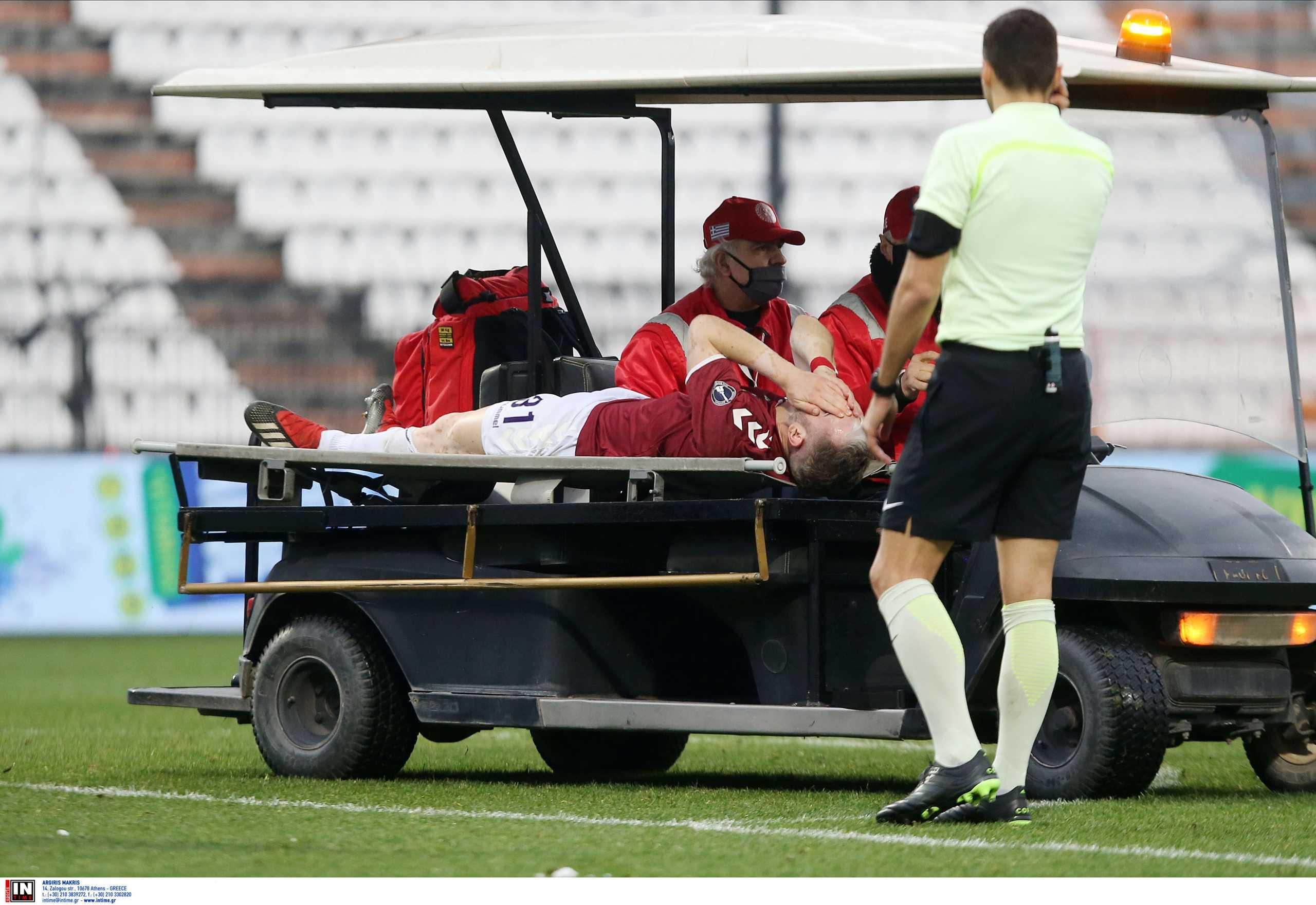 ΠΑΟΚ – Απόλλωνας: Σοβαρός τραυματισμός για Βιτλή, φώναζε ότι έσπασε το πόδι του (video)