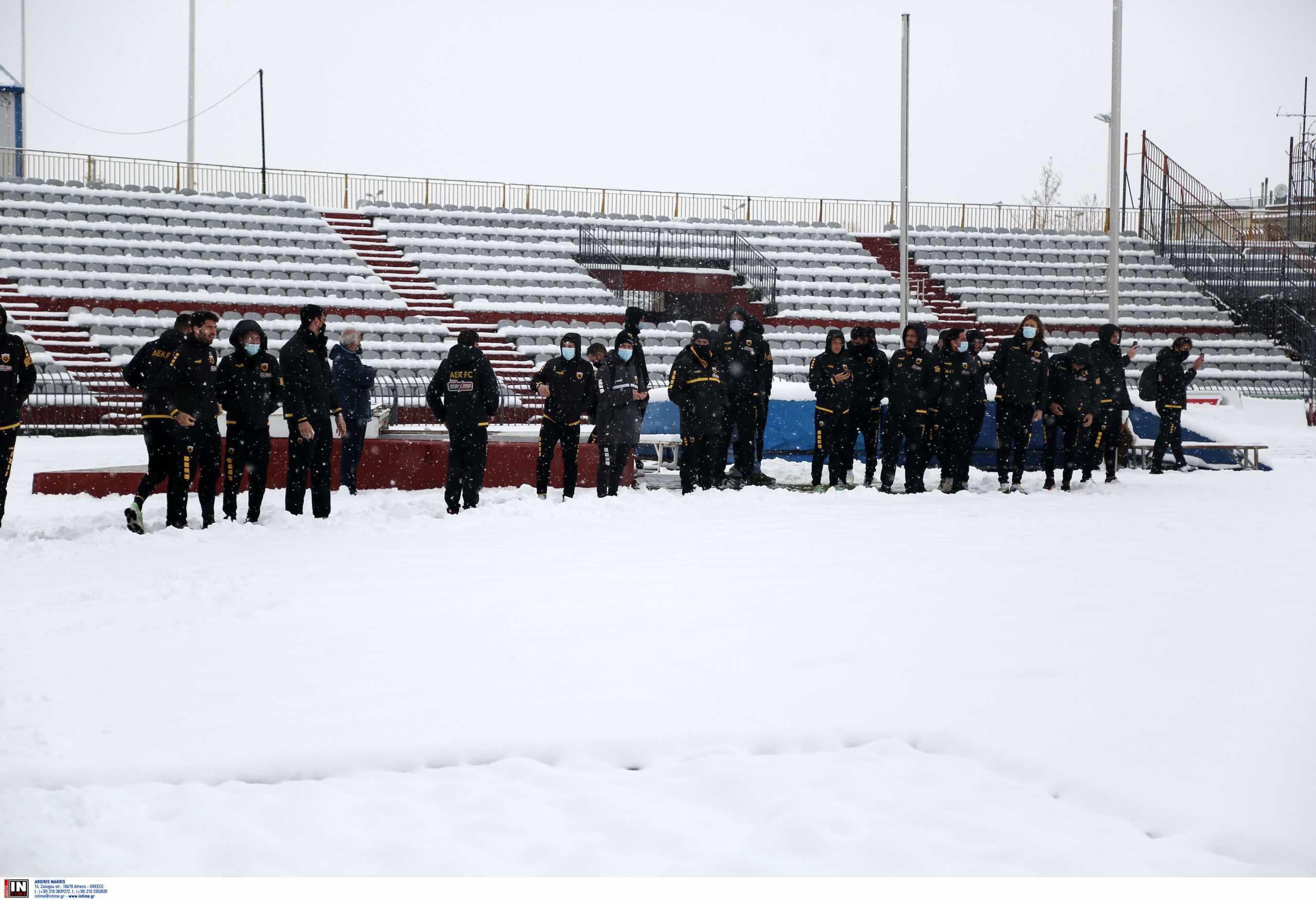 ΑΕΛ – ΑΕΚ: Επίσημη η αναβολή για «χιόνι ύψους 15-20 εκατοστών» – Πότε θα γίνει το ματς