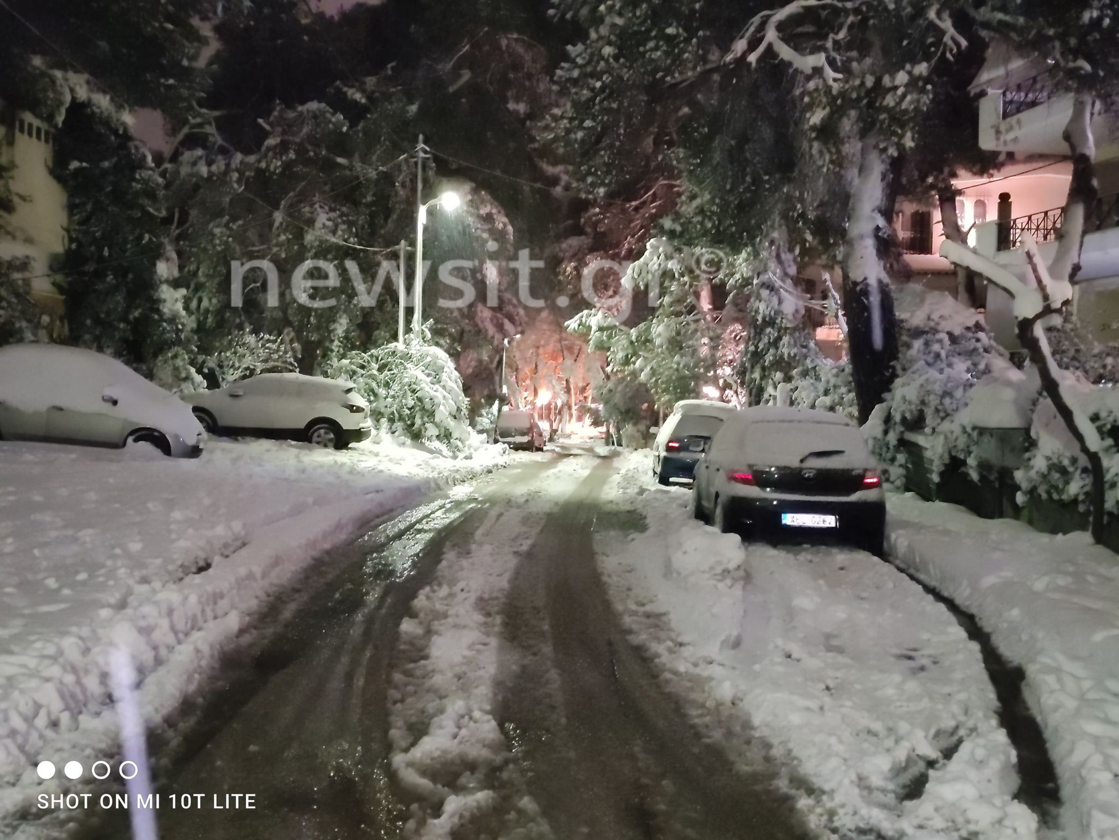 χιόνια Αττική Αθήνα