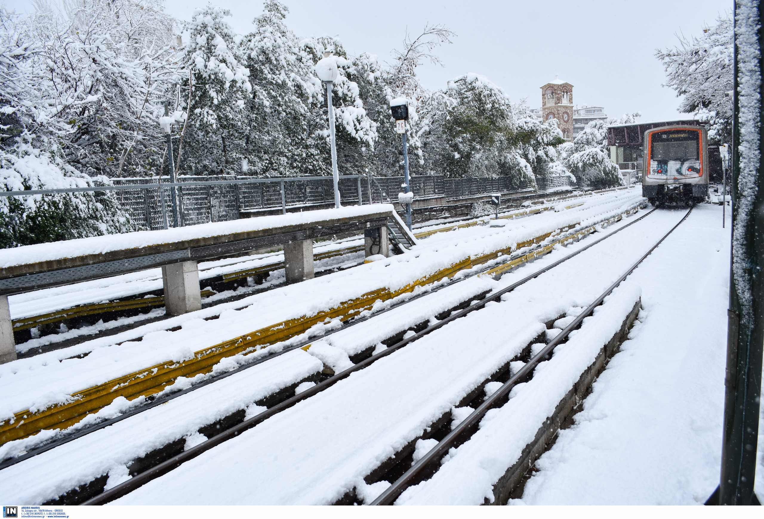 Καιρός – Κακοκαιρία Μήδεια: Εκτός λειτουργίας τμήμα της Γραμμής 1 του Μετρό