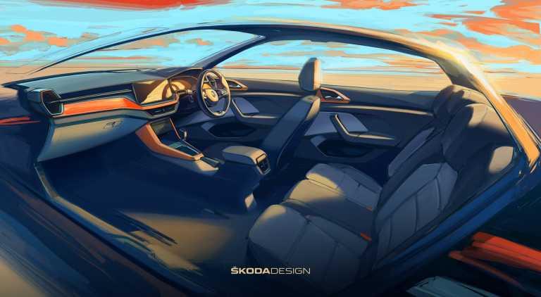 Η Skoda αποκαλύπτει το εσωτερικό του νέου μικρού της SUV [pics]