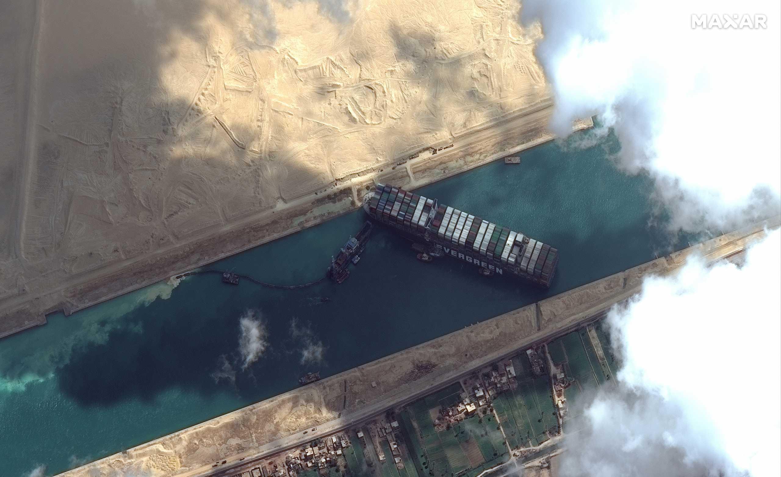 Διώρυγα του Σουέζ: Αποζημίωση 900 εκατ. δολάρια ζητά η Αίγυπτος από το Ever Given