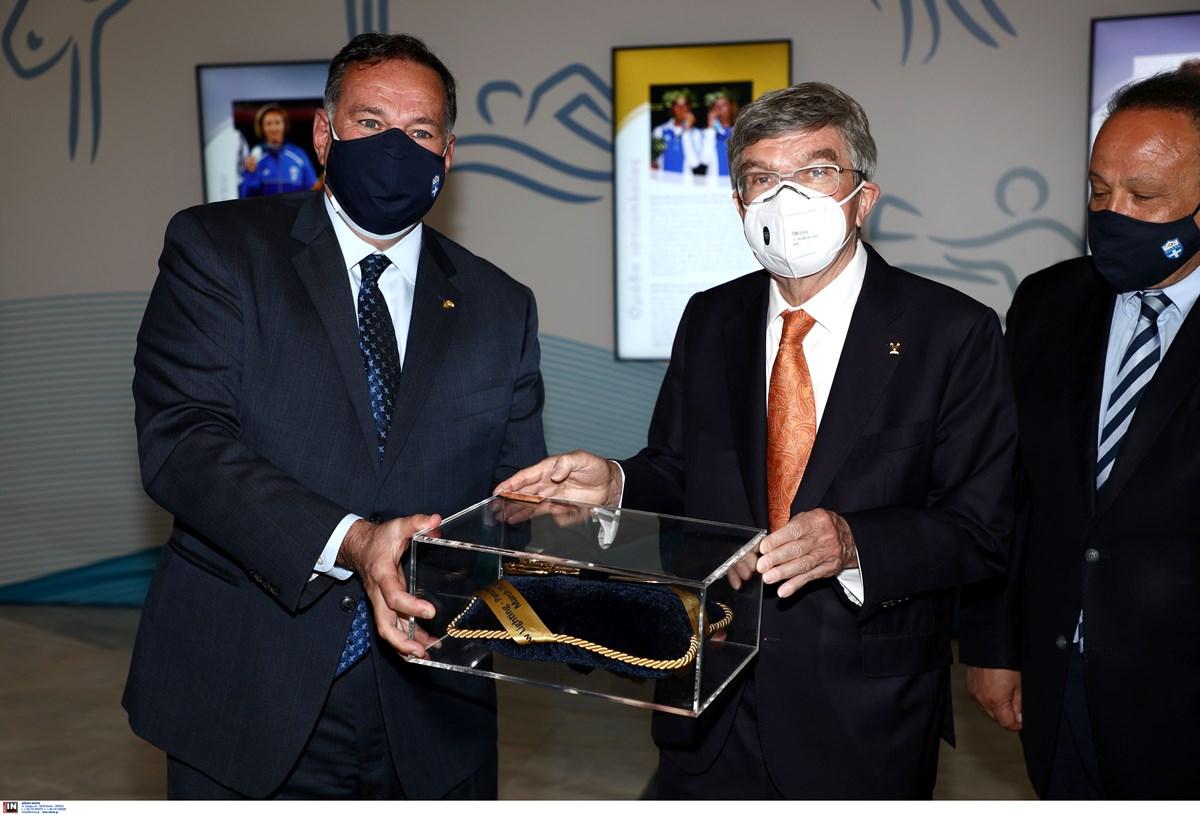 O Τόμας Μπαχ εγκαινίασε την ψηφιακή έκθεση στην Ελληνική Ολυμπιακή Επιτροπή (video, pics)