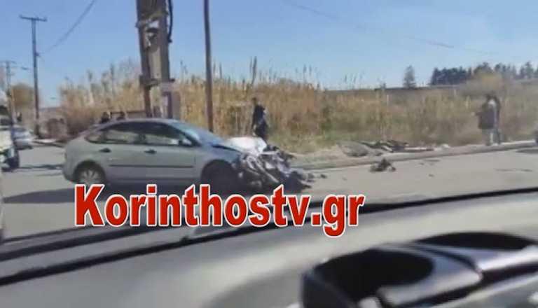 Κιάτο: Σοκαριστικό τροχαίο στην Παλαιά Εθνική Οδό Κορίνθου – Πατρών (video)