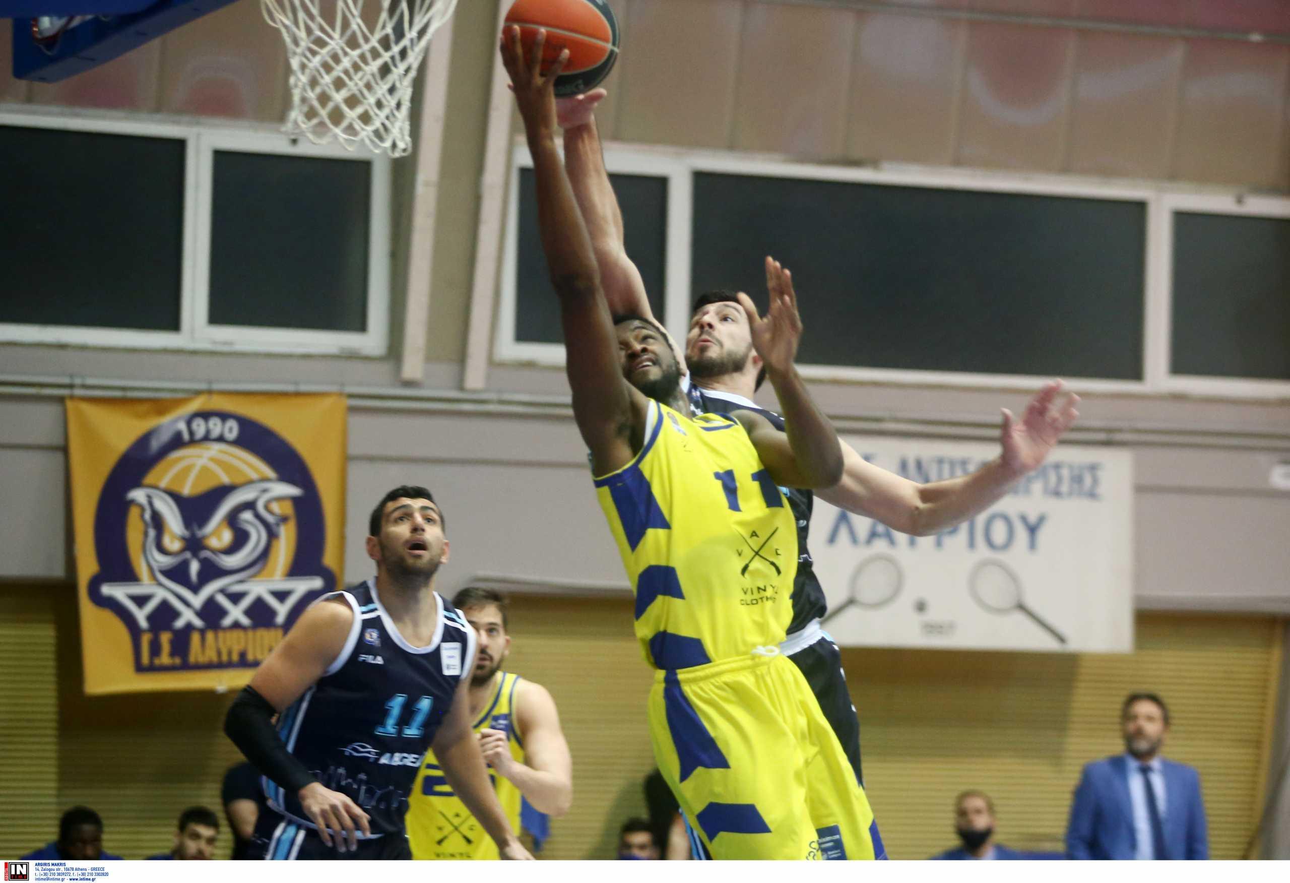 Basket League: Με «σπασμένα φρένα» το «αλύγιστο» Λαύριο συνεχίζει στην κορυφή (video)