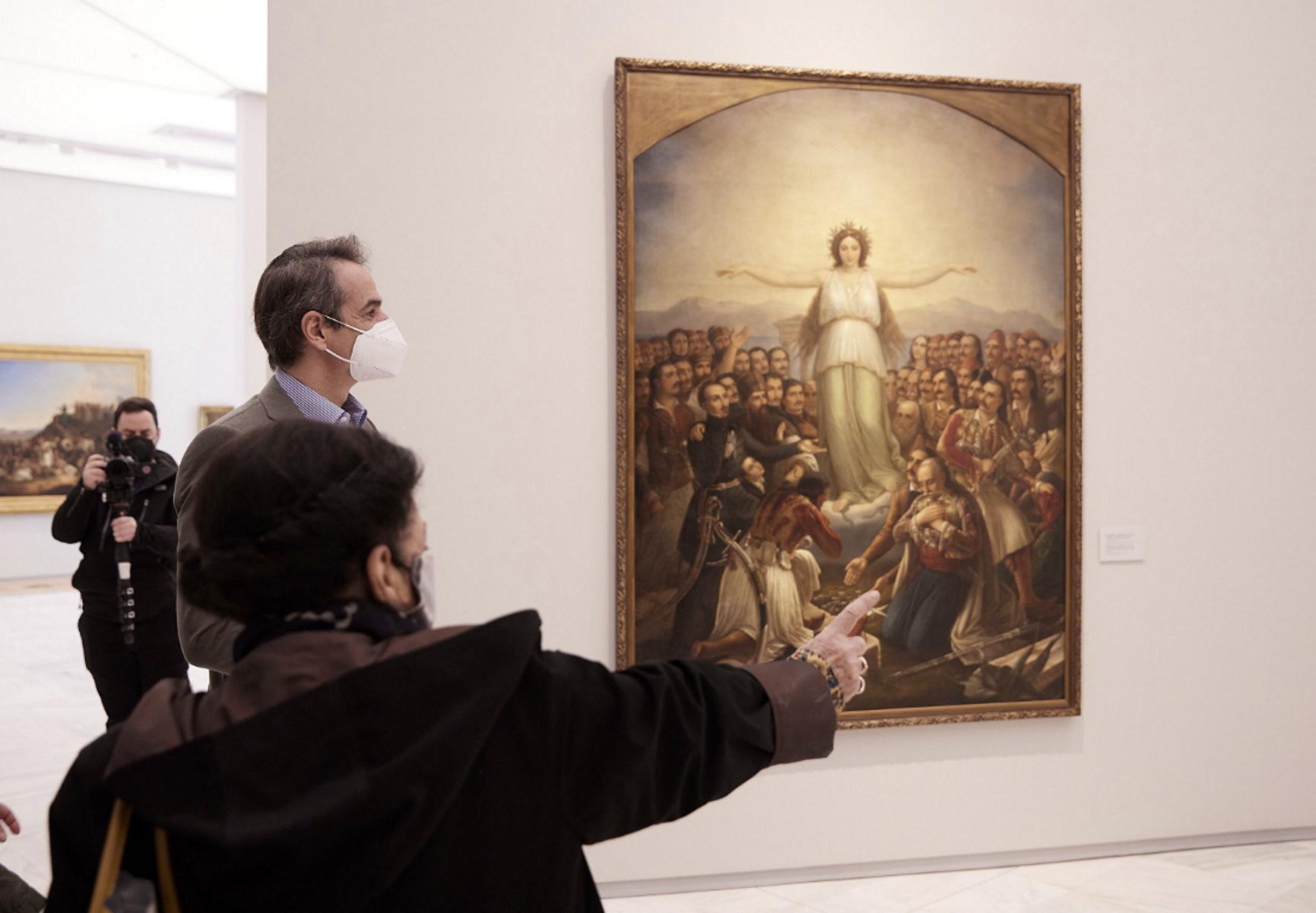 Ο Μητσοτάκης στην υπερσύγχρονη και ανανεωμένη Εθνική Πινακοθήκη – Δείτε εικόνες από την επίσκεψη