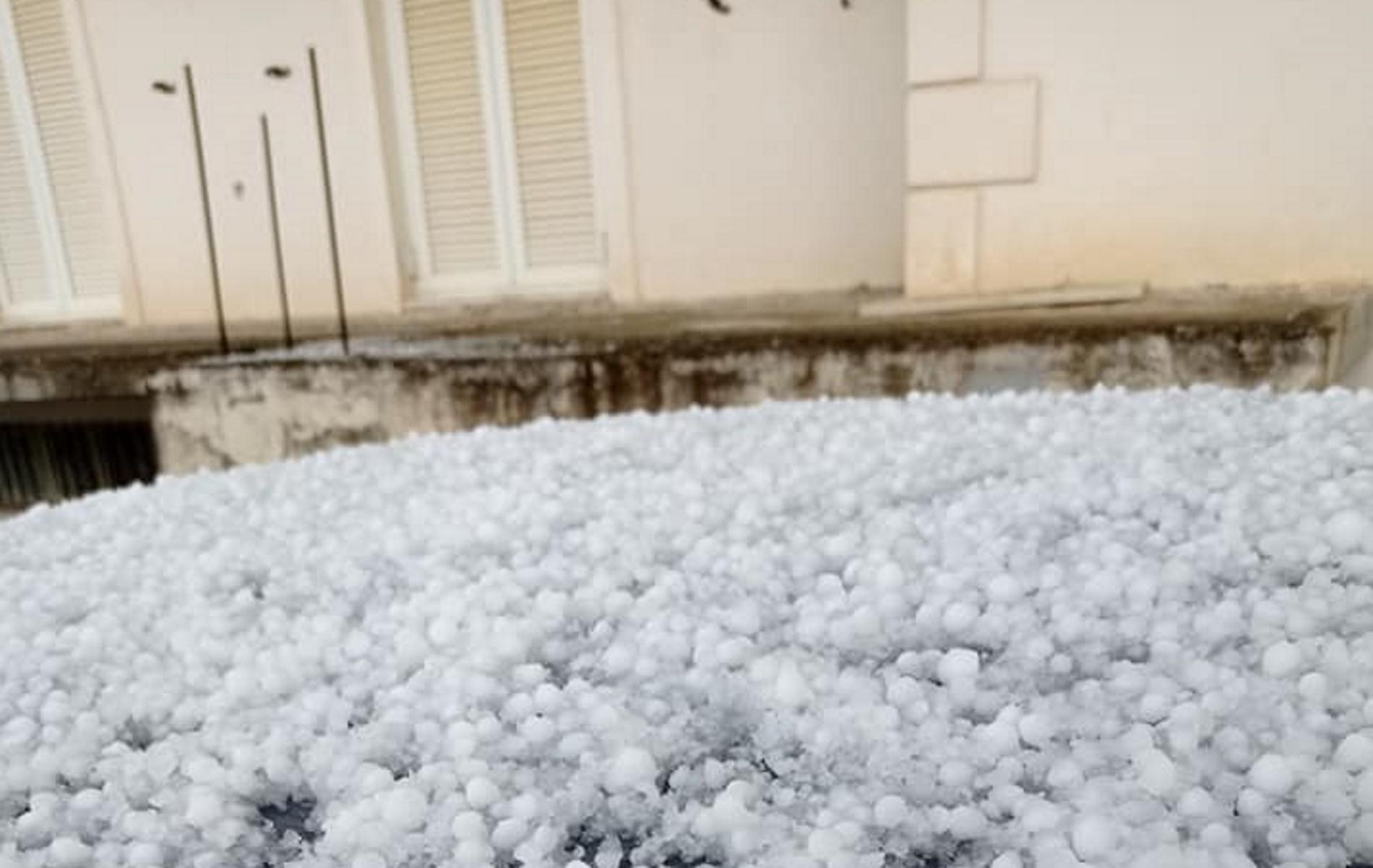 Καιρός – Σπάρτη: Τεράστιες καταστροφές από χαλάζι – Λευκά «αυγά» από τον ουρανό (pics, vid)