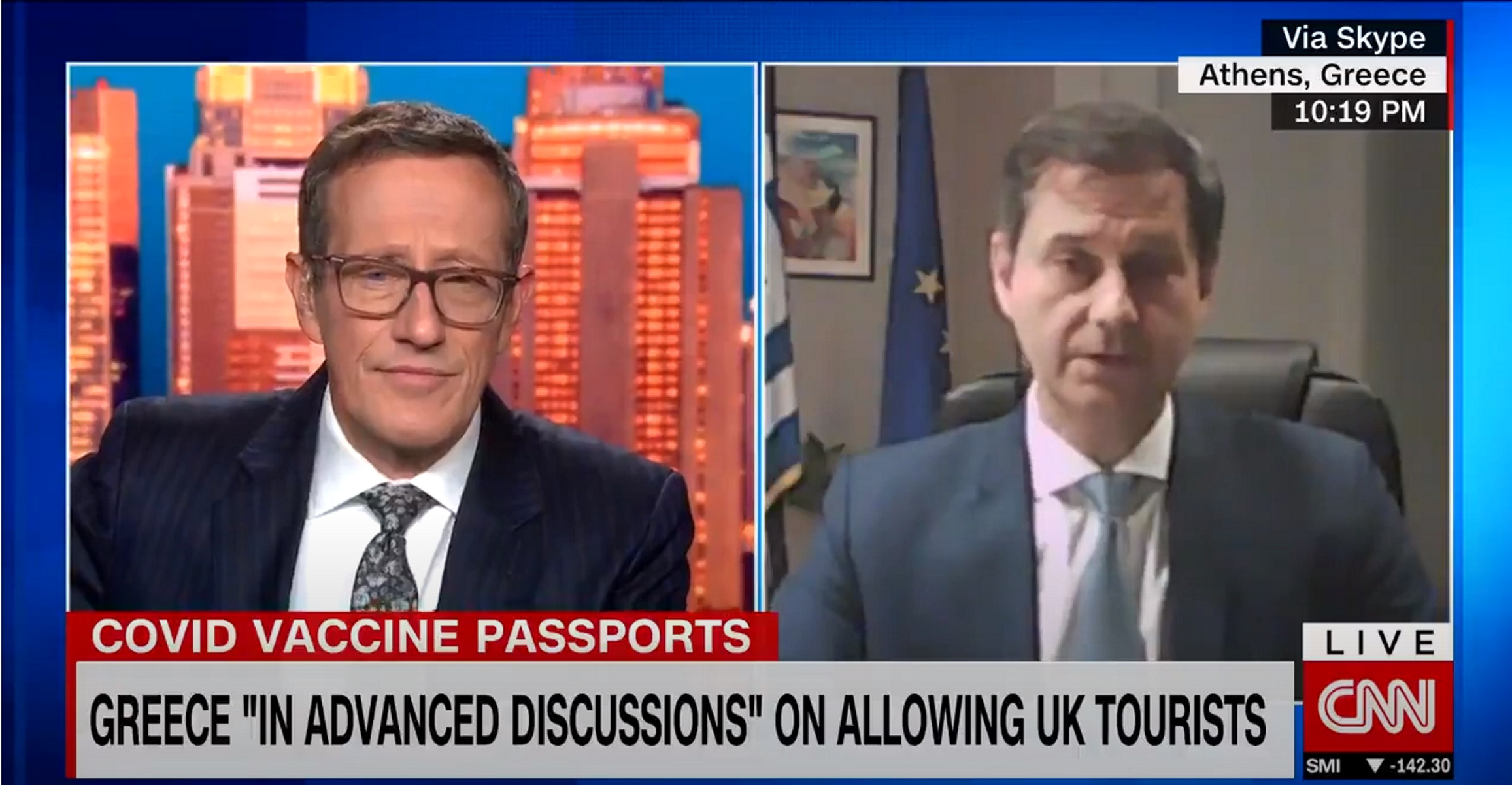 Θεοχάρης στο CNN: Έρχεται συμφωνία για το πιστοποιητικό εμβολιασμού – Τι προσδοκά φέτος στον τουρισμό (video)