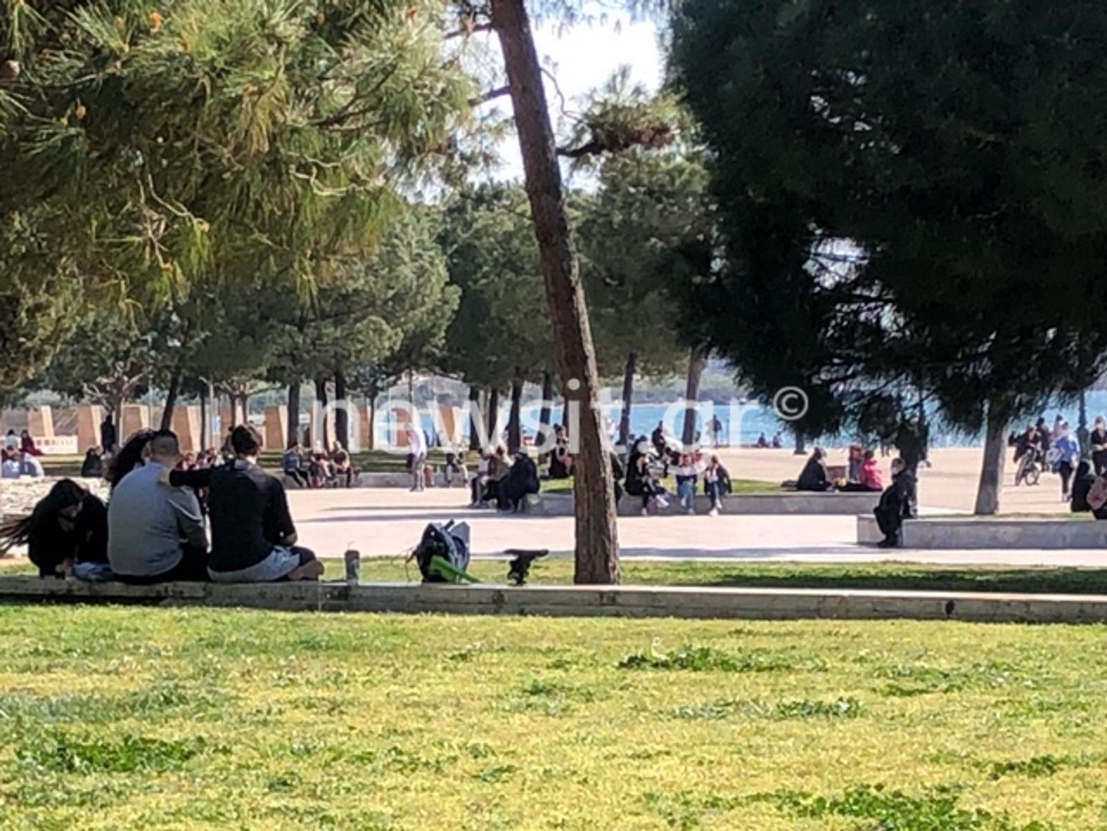 Θεσσαλονίκη: Το lockdown πήγε «περίπατο» – Κατά εκατοντάδες βγήκαν στη νέα παραλία (pics)