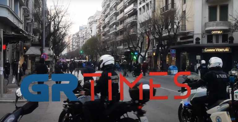 Θεσσαλονίκη: Ένταση στην πορεία για την Ημέρα της Γυναίκας (video)