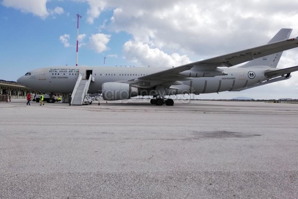 Στην Κρήτη κατέφτασε αεροσκάφος της Σαουδικής Αραβίας για την άσκηση με την ελληνική Αεροπορία [pics]