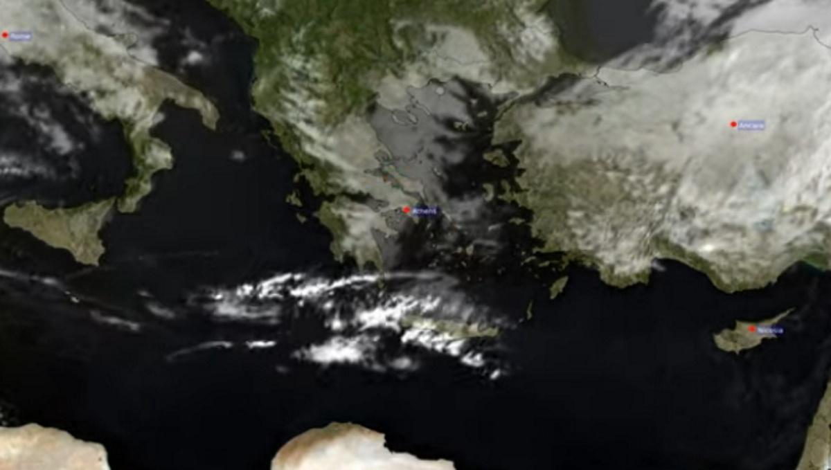 Αίτνα: Εντυπωσιακό βίντεο με το ταξίδι του ηφαιστειακού νέφους στην Αθήνα