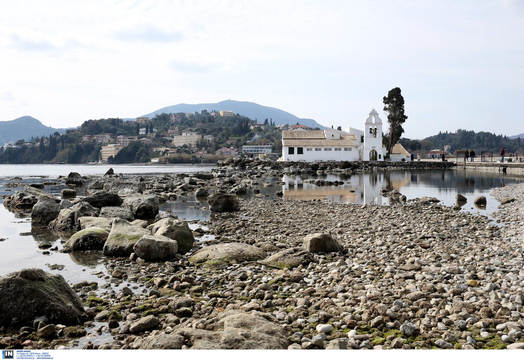 Εξαφανίστηκε η θάλασσα στην Κέρκυρα και το Καλοχώρι – Εικόνες Αποκάλυψης