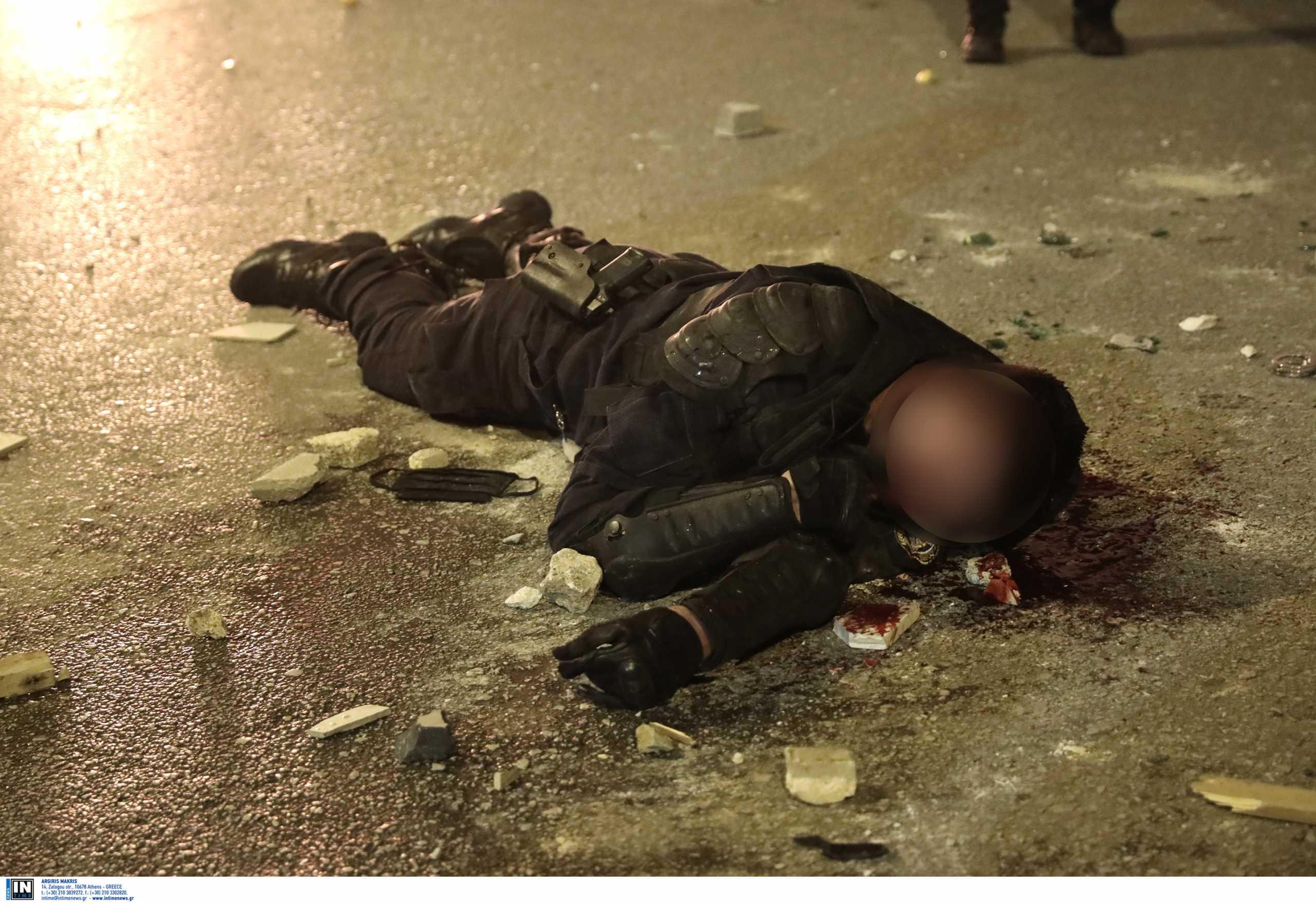 Νέα Σμύρνη: Η στιγμή που τραυματίστηκε αστυνομικός στα επεισόδια