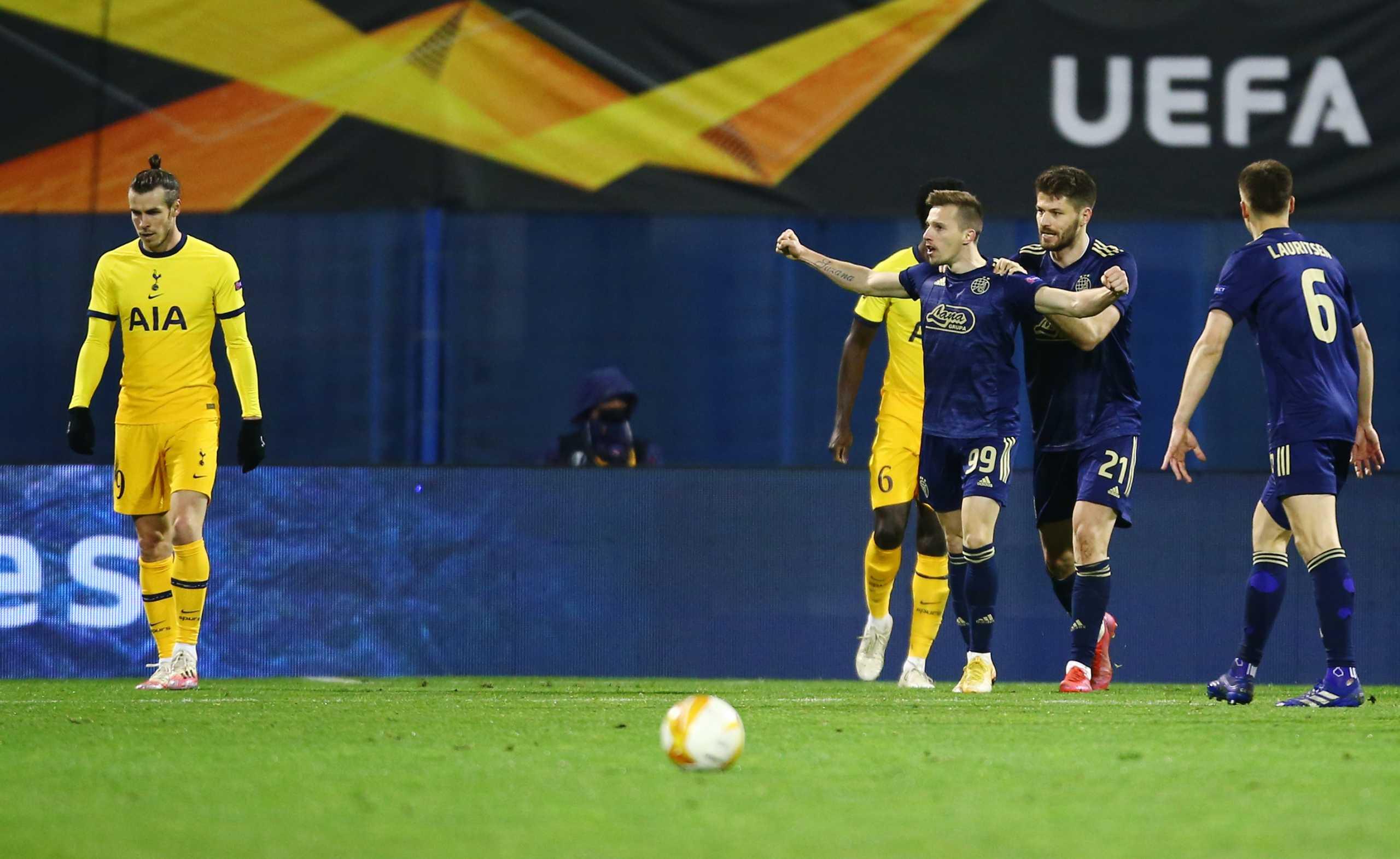 Europa League: «Βόμβα» από τη Ντιναμό Ζάγκρεμπ απέκλεισε την Τότεναμ (video)